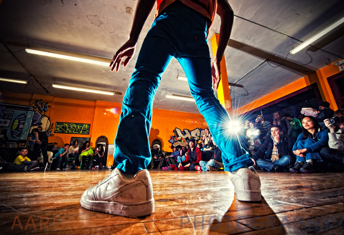 Luke Flywalker at Verve Dance Studio's monthly Battle@buffalo dance contest