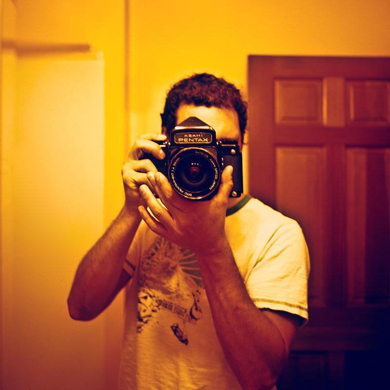 Self portrait of Aaron Ingrao in mirror